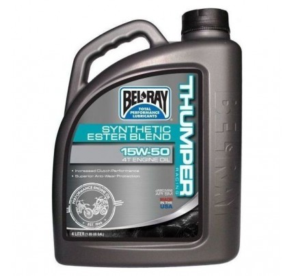 Bel-Ray Thumper Racing Synthetic Ester Blend 4T 15W-50 4L