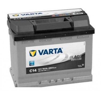 Μπαταρία Varta Black Dynamic C14 56AH-480EN 5564000483122